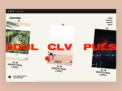 V2 Daistudio ! identity lettering vector branding minimal flat design website web ux ui logo daistudio.fr webdesign lyon graphicdesign freelancer