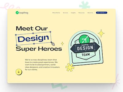 Leapfrog Design Microsite website landingpage homepage microsite