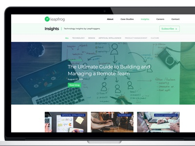 New Insights page for Leapfrog