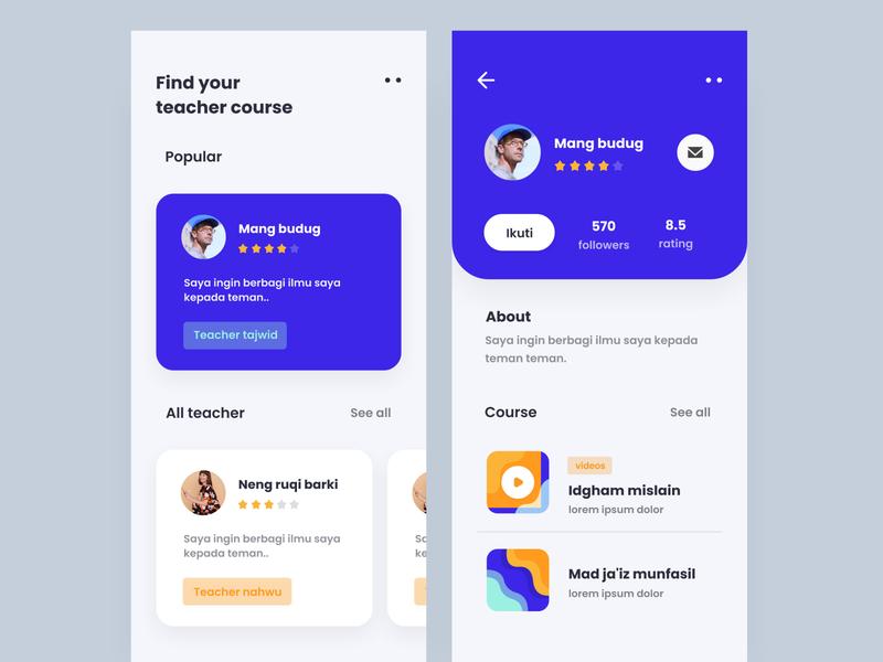 Course App Exploration design exploration app ios ux education ui design student app learning app gradient course app cards illustration app design typography mobile app