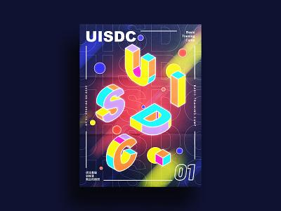 Isometric poster 2.5d design