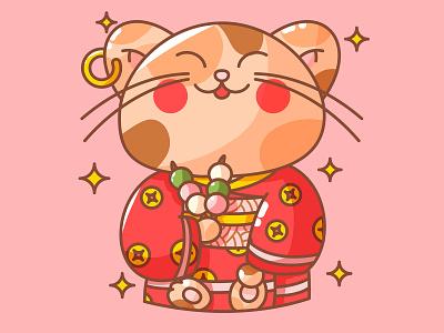 Lucky Cat illustration design