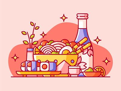 food webdesign design illustration