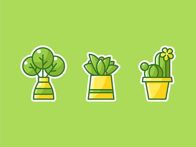 plant sticker ui branding poster webdesign illustration design