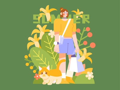 Summer ui branding illustration webdesign design