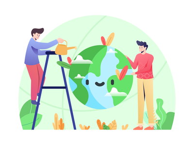 Conservation Illustration vector illustration global energy environmental planet ecology earth environment nature conservation
