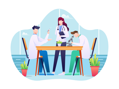 Medical Student Illustration vector illustration campus doctor biology college university education medical student