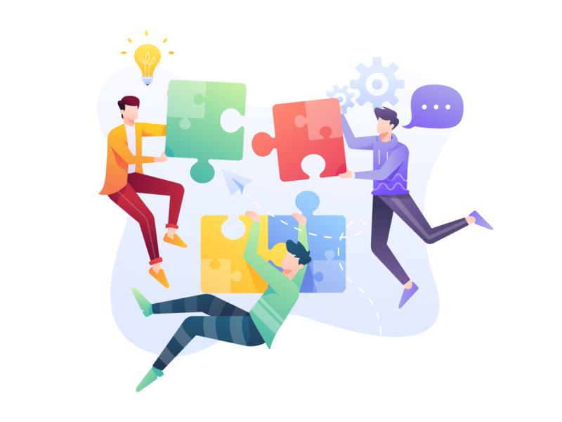 Problem Solving Illustration illustration planning meeting leadership plan teamwork strategy brainstorming solution business problem