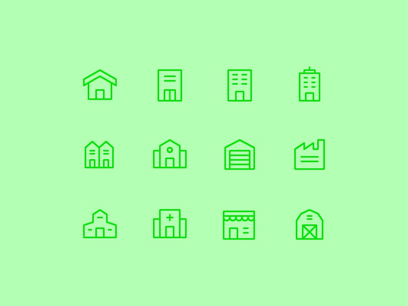Building Icon Set home building vector symbol design icons icon
