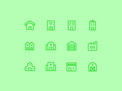 Building Icon Set home building vector symbol design icons icon