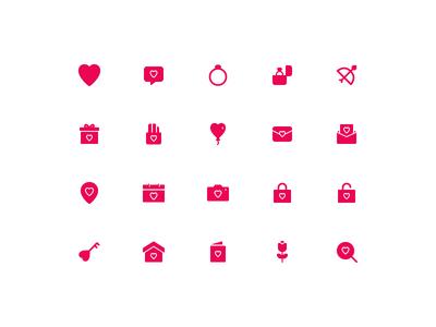 Romance Icon Set