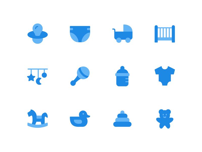 Baby Flat Icon flat icon icon a day flaticon baby symbol vector design icon