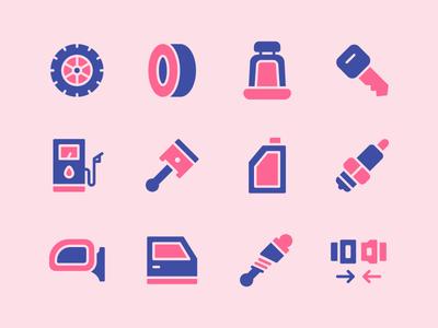 Automobile Icon Set garage vehicle automotive car automobile icons flaticon vector symbol icon