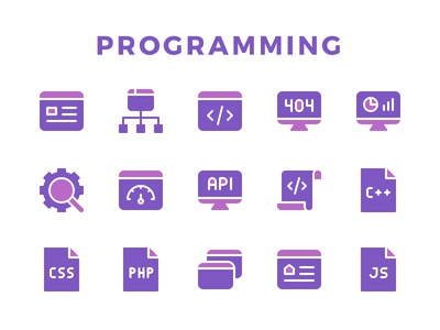 Programming Icon Set developer software web code programming icon set icons icon