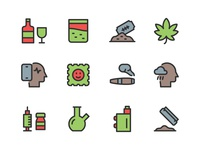 Addiction icon Set