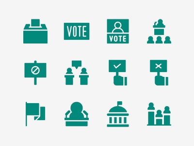 Politic Icon Set democracy republic demonstration debate vote president politic icon set icons icon