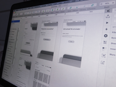 ELECTO - wireframes