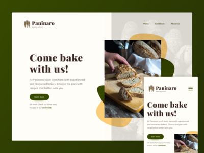 Baking Course Pesponsive Website - Concept
