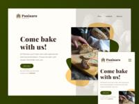 Baking Course Pesponsive Website - Concept