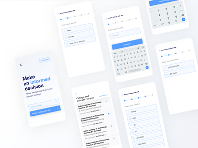 JEE Counsellor | Reimagining my initial projects typography app android clean ui ux design