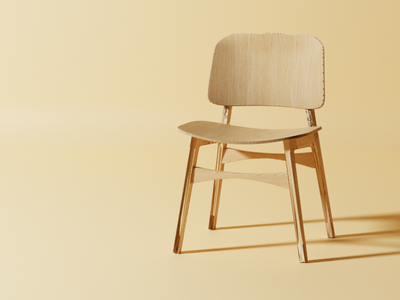 Wooden Chair | 3D  Blender 3d blender blender3d