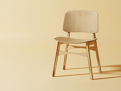 Wooden Chair | 3D  Blender 3d blender blender3d