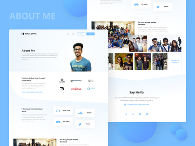 About Me | Portfolio Website web about me ui kunal satpal personal ux design website portfolio