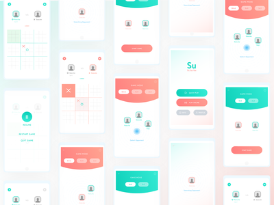Su Tic Tac Toe | Android Game | All Screens game app game animation cards android app ux ui design