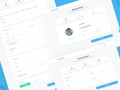 Talentbite | Onboarding page sign up form onboarding ui onboarding simple clean cards ux ui design