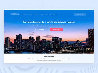 Landing Page | Cybersecurity image manipulation landing page landing japan cyber security web clean website ui ux design