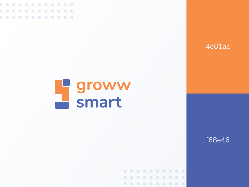 Groww Smart | Logo Branding clean logos branding logo design logo ui ux design