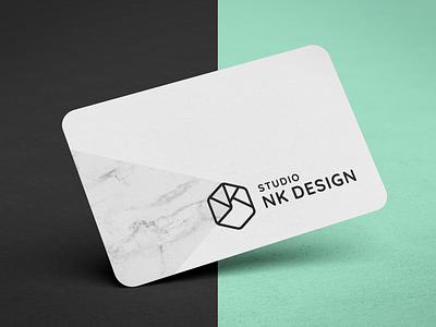 Studio NK Design - Brand identity branding business card logo marble architecture stationary studio minimal