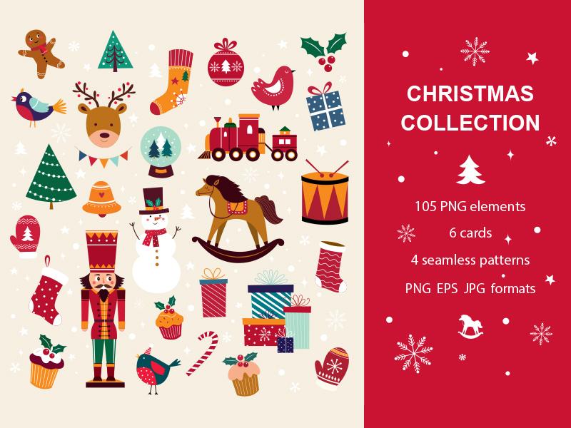 Symbols Of Christmas.Christmas Collection By Molesko Studio On Dribbble