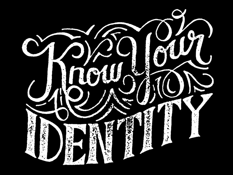 Know Your Identity flourish hand lettering script lettering graphic design typography letters identity
