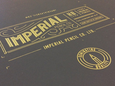 Imperial Pencil Co. packaging package design package imperial screen printing packaging pencils hand lettering lettering pencil hand printed