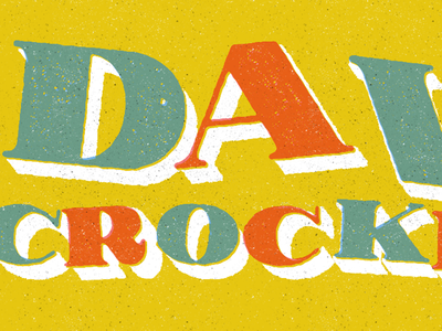 Davy Crockett typeface