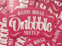 BR Dribbble meetup stickers