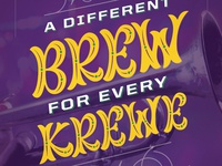 A different brew for every krewe - Tin Roof Beer poster