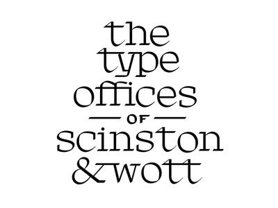 Scinston & Wott design calligraphy blackletter lettering type