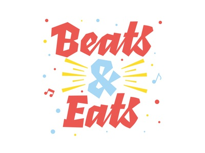 Beats & eats wow eats beats music script typography design lettering