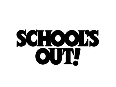 Schools Out! school serif poster art type design design typogaphy lettering