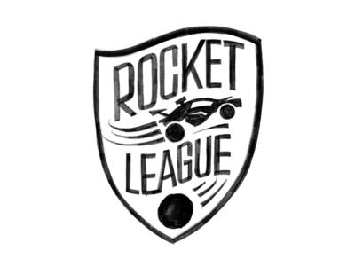 Y'all play rocket league? drawing soccer car sketch lettering design logo rocket league
