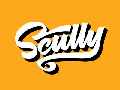 Scully t-shirt lettering birthday yellow scully script graphicdesign typedesign type lettering
