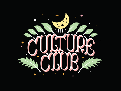 Culture Club illustrations typogaphy lettering
