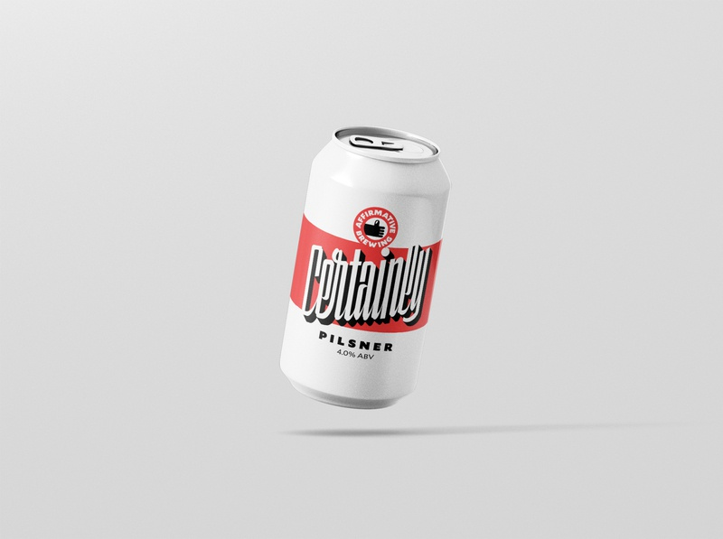 Certainly Pilsner (Octobeer) beer mockup handlettering logo pilsner script label design typography lettering beer label