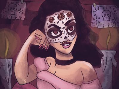 La Doña november bones skull traditions mexico day of the death muertos dia de muertos catrina