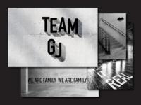 Dance Group Team GJ Identity design typography branding vector group dance logotype bw logo poster identity brand