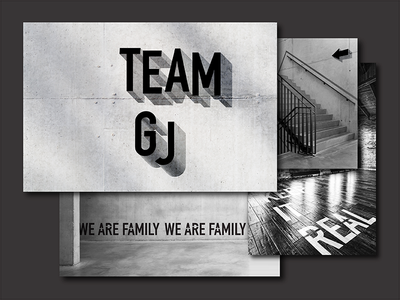 Dance Group Team GJ Identity dancer system orientation dancing visual style guide dance company visual art visual style design typography branding vector group dance logotype bw logo poster identity brand