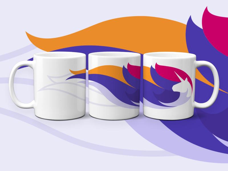 Ataccama Unicorn Mug design illustration present gifts gift mug mockup mug design creative data designer brand identity brand design branding corporate identity corporate design mugs company corporate unicorn mug