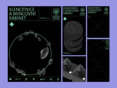 National Museum Jewelry Exhibition gallery logotype poster art guide map poster design diamond visual style jewelry exposition exhibition design proposal posters poster bugs art bw green black